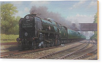 Atlantic Coast Express Wood Print by Mike  Jeffries