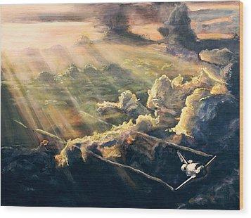 Atlantis Wood Print by Simon Kregar