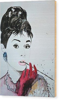 Audrey Hepburn - Original Wood Print by Ismeta Gruenwald