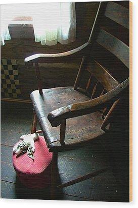 Aunt Tillie's Sewing Chair Wood Print by Julie Dant