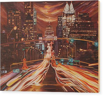 Austin Unplugged Wood Print by Suzanne King