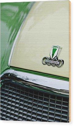 Auto Union Dkw Hood Emblem Wood Print by Jill Reger