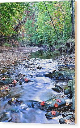 Autumn Arrives Wood Print by Frozen in Time Fine Art Photography