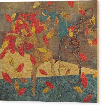 Autumn Dance Wood Print by Lynda K Boardman