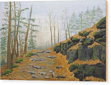 Autumn Hike Wood Print by Peggy King