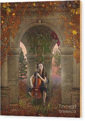 Autumn Melody Wood Print by Bedros Awak