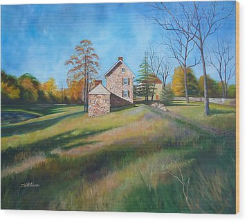 Autumn Morning Wood Print by Diane Hutchinson