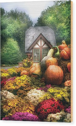 Autumn - Pumpkin - This Years Harvest Was Awesome  Wood Print by Mike Savad