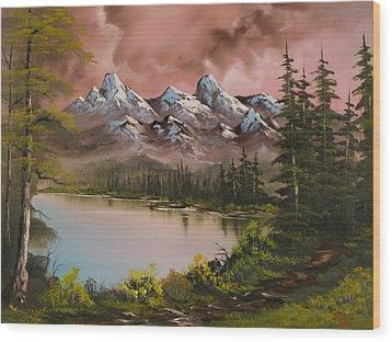 Autumn Storm Wood Print by C Steele