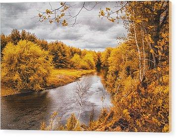 Autumn White Mountains Maine Wood Print by Bob Orsillo