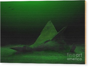 Avro Arrow In Lake Ontario Wood Print by Tom Straub