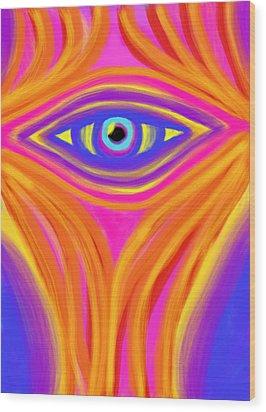 Awakening The Desert Eye Wood Print by Daina White