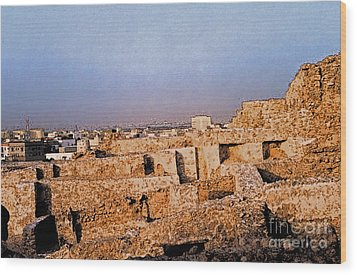 Bahrain Fort  Wood Print by First Star Art