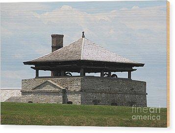 Bake House At Old Fort Niagara Wood Print by Rose Santuci-Sofranko
