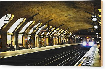 Baker Street London Underground Wood Print by Mark Rogan