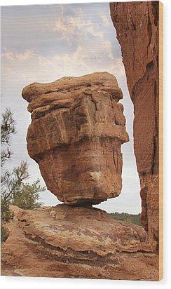 Balanced Rock Wood Print by Mike McGlothlen