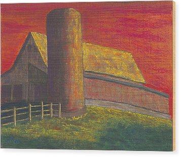 Balducci Sunset Wood Print by Garry McMichael