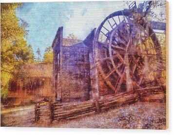 Bale Grist Mill Wood Print by Kaylee Mason