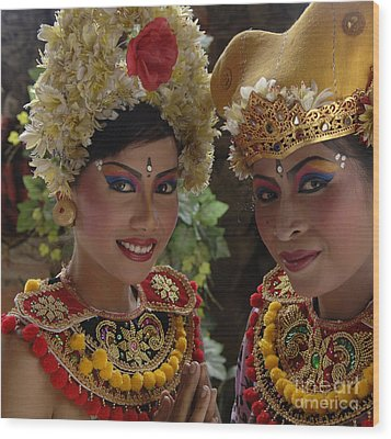 Bali Beauties Wood Print by Bob Christopher