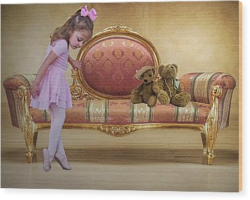 Ballerina Wood Print by Sharon Lisa Clarke