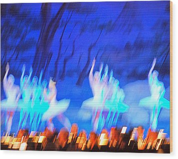 Ballet Dancers Abstract. Wood Print by Oscar Williams