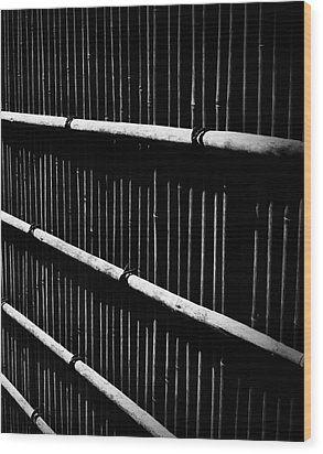 Bamboo Screen Wood Print by Claire Carpenter