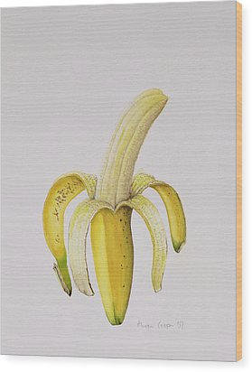 Banana Wood Print by Alison Cooper