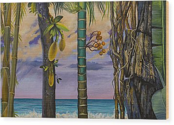 Banana Country Wood Print by Vrindavan Das
