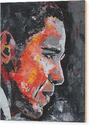 Barack Obama Wood Print by Richard Day