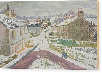 Barbon In The Snow Wood Print by Stephen Harris