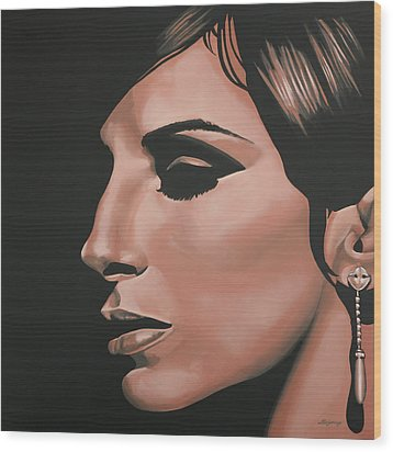 Barbra Streisand Wood Print by Paul Meijering