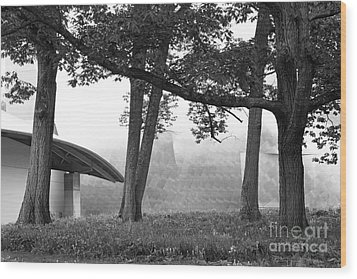 Bard College Fisher Center Wood Print by University Icons