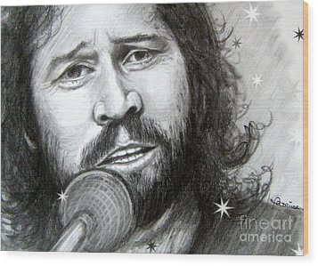 Barry Gibb Wood Print by Patrice Torrillo