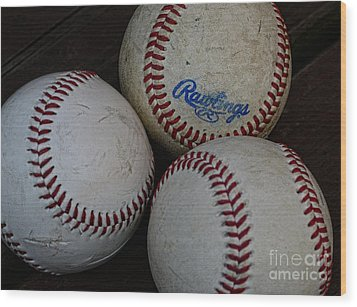 Baseball - The American Pastime Wood Print by Paul Ward