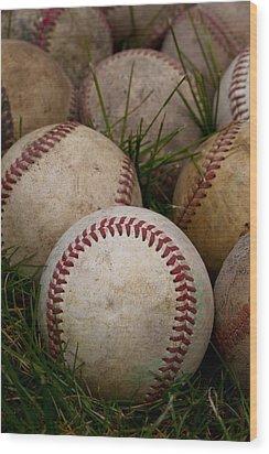 Baseballs Wood Print by David Patterson