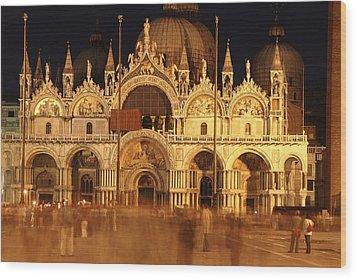 Basilica Di San Marco Wood Print by George Buxbaum