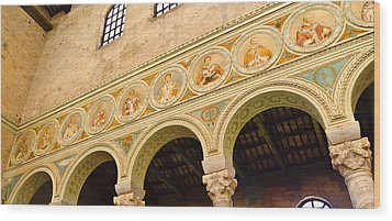 Basilica Di Sant' Apollinare Nuovo - Ravenna Italy Wood Print by Jon Berghoff