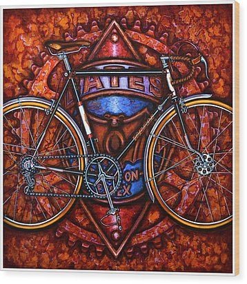 Bates Bicycle Wood Print by Mark Howard Jones