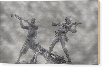 Battle Of Gettysburg 150 Blue And The Gray Wood Print by Randy Steele