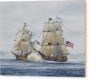 Battle Sail Wood Print by James Williamson