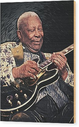 B.b. King II Wood Print by Taylan Soyturk