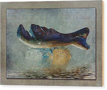 Beached Whale II Wood Print by WB Johnston