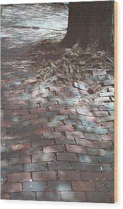 Beacon Hill Brick Wood Print by Jill Tuinier