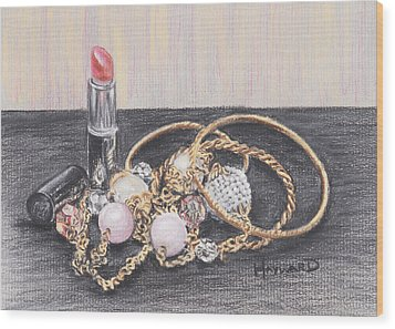 Beads And Bangles Wood Print by Lucy Hayward