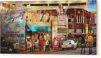 Beale Street Wood Print by Barbara Chichester