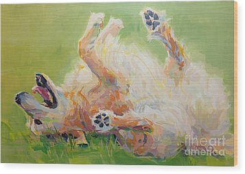 Bears Backscratch Wood Print by Kimberly Santini