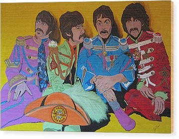 Beatles-lonely Hearts Club Band Wood Print by Bill Manson