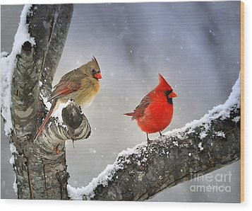 Beautiful Together Wood Print by Nava Thompson