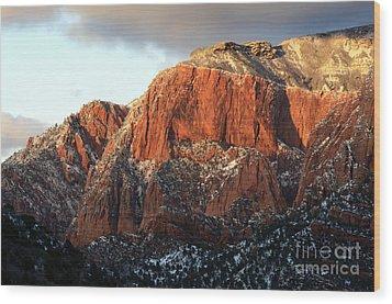 Beauty Of Kolob Canyon  Wood Print by Bob Christopher