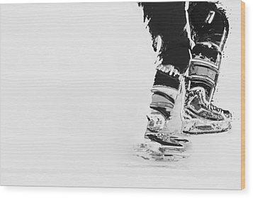Becomes The Ice Wood Print by Karol Livote